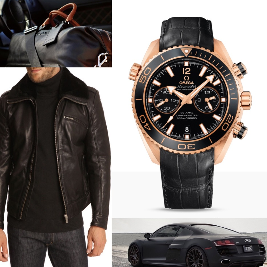 75dafa32fa1 PLANET OCEAN 600 M OMEGA CO-AXIAL CHRONOGRAPH 45.5 MM Red gold on leather  strap 232.63.46.51.01.001