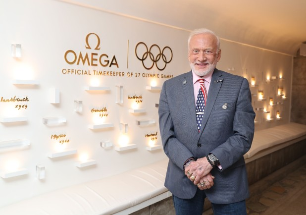 RIO DE JANEIRO, BRAZIL - AUGUST 10: Buzz Aldrin attends the Cocktails In Space night at OMEGA House Rio 2016 on August 10, 2016 in Rio de Janeiro, Brazil. (Photo by Mike Marsland/Mike Marsland/WireImage) *** Local Caption *** Buzz Aldrin
